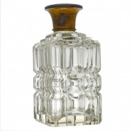 Enamelled Gilded Topped Perfume Bottle. Click for more information...