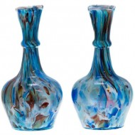 Pair of End of the Day Glass Vases. Click for more information...