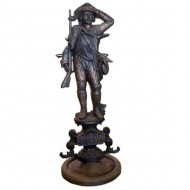 Stunning Victorian Huntsman Cast Iron Firetools Stand. Click for more information...