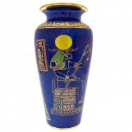 RARE Tutankhamun Pattern Vase. Click for more information...