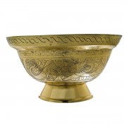 Large Chinese Brass Fruit Bowl. Click for more information...