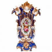 French Alter Vase Highly Gilded Floral Panel. Click for more information...
