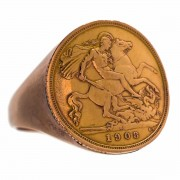 1908 Half Sovereign 9ct Gold Ring. Click for more information...