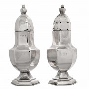 Pair of Sterling silver. Salt and Pepper. Click for more information...