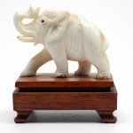 Carved Ivory Elephant. Click for more information...