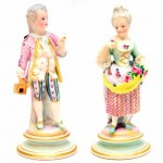 Pair of German Meissen Figures. Click for more information...