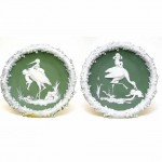 A Pair of Continental Bisque Wall Plaques. Click for more information...